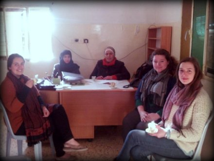 Preparing for the spring semester in Deir Al-Hatab.