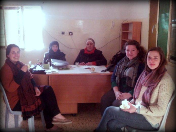 Preparing for the spring semester in Deir Al-Hatab.